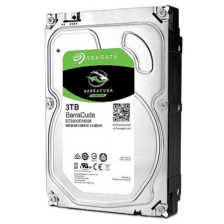 HD 3000GB SATA ST3000DM008 7200RPM BARRACUDA SEAGATE S/ CAIXA