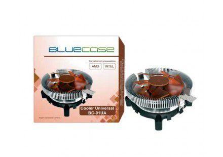 COOLER UNIVERSAL P/PROCESSADOR BC-01UA C/LED AZUL BLUECASE