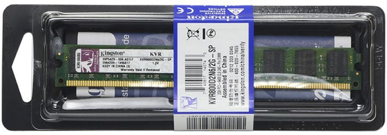 MEMORIA 2GB DDR2 800 MHZ KVR800D2N6/2G KINGSTON
