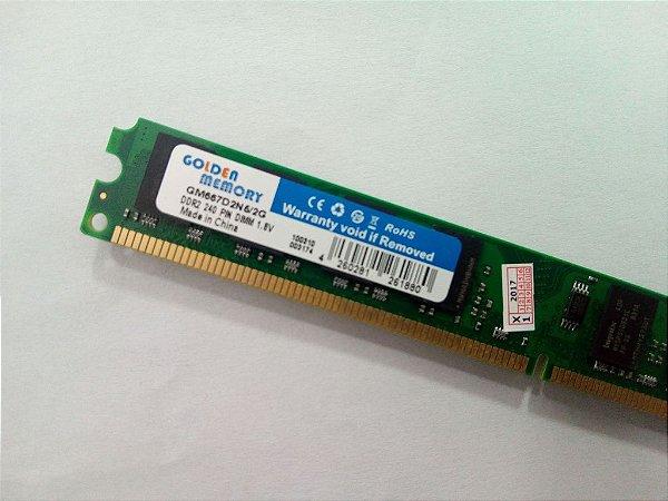 MEMORIA 2G DDR2 667 MHZ GM667D2N6/2G GOLDEN MEMORY