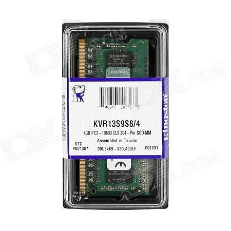 MEMORIA 4GB DDR3 1333 MHZ KVR13S9S8/4 NOTEBOOK KINGSTON