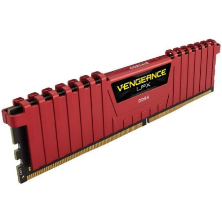 MEMORIA 4GB DDR4 2400 MHZ VENGEANCE LPX CMK4GX4M1A2400C14R VERMELHO CORSAIR