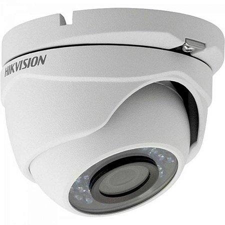 Camera Dome HDTVI 2,8mm 20M 2MP 1080P IP66 Plastico DS-2CE56D0T-IRP HIKVISION