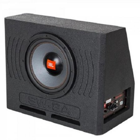 "Caixa 8"" p/ Porta Mala Universal Ativa SW8A Preto JBL"
