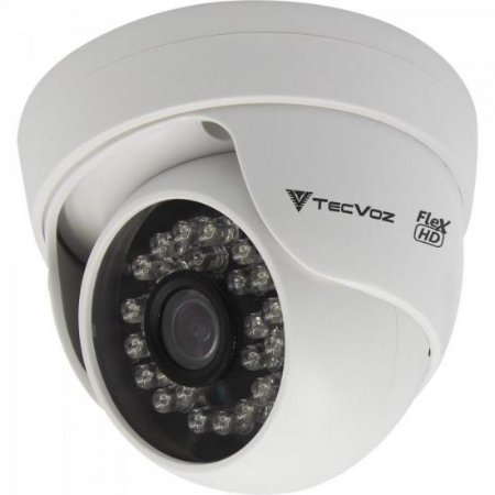 Câmera Dome IR 25m 2.8mm 1.0MP CDM-128P Branca TECVOZ