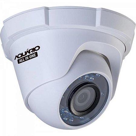 Camera Dome OPEN (4 em 1) 720P 2,8mm 20m CDF-2820-1P Case Plast AQUARIO