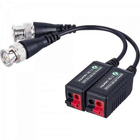 Conversor De Video Balun P/ Câmera De Segurança CFTV VBL-01 Preto AQUARIO