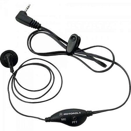 Fone de Ouvido com Microfone PTT Para Rádios TALKABOUT FRS53727B Preto MOTOROLA