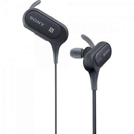 Fone de Ouvido Esportivo Bluetooth com Microfone EXTRA BASS MDR-XB50BS Cinza SONY