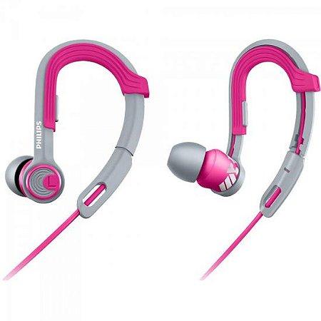 Fone de Ouvido Esportivo Gancho Ajustável SHQ3300PK/00 Rosa PHILIPS