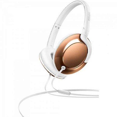 Fone De Ouvido Headband On Ear Com Microfone SHL4805RG/00 Dourado PHILIPS