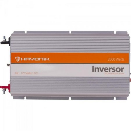 Inversor de Onda Senoidal 12VDC/127V USB 2000W HAYONIK