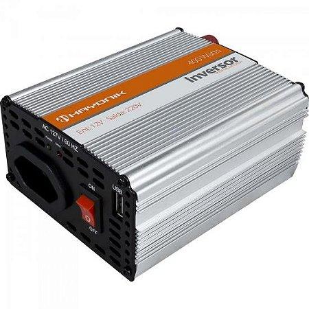 Inversor Onda Modificada 12VDC/220V USB 400W HAYONIK