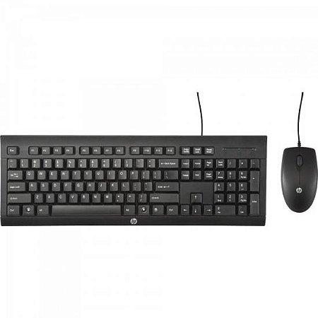 Kit Teclado + Mouse C2500 Preto HP