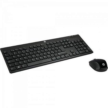 Kit Teclado + Mouse Wireless C200 Preto HP