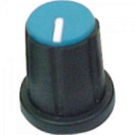 Knob Estriado com Parafuso para Mesa de Som KP-200 Azul SCOTT
