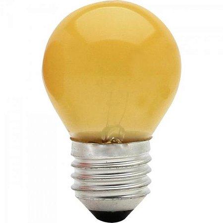 Lâmpada BOLINHA 15W 127V E27 BG45 Amarela BRASFORT