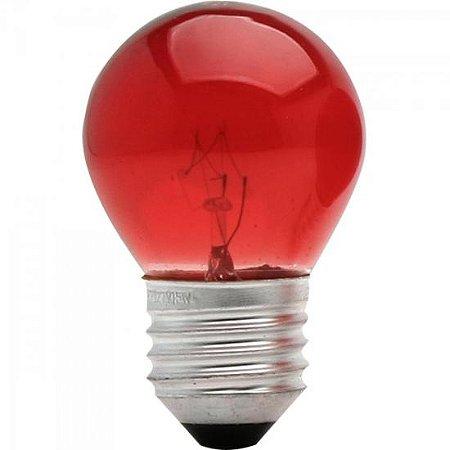 Lâmpada BOLINHA 15W 127V E27 BG45 Vermelha BRASFORT