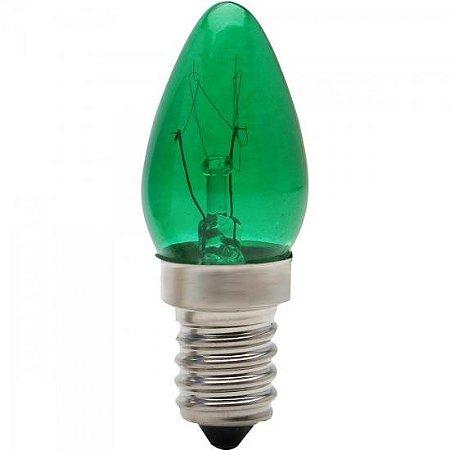 Lâmpada CHUPETINHA 7W 127V E14 CH24 Verde BRASFORT