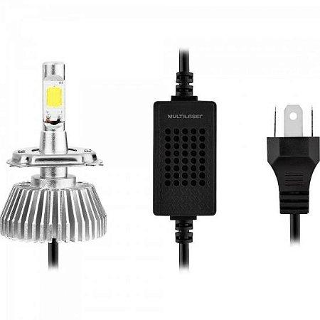 Lampadas Super LED H3 Branca MULTILASER