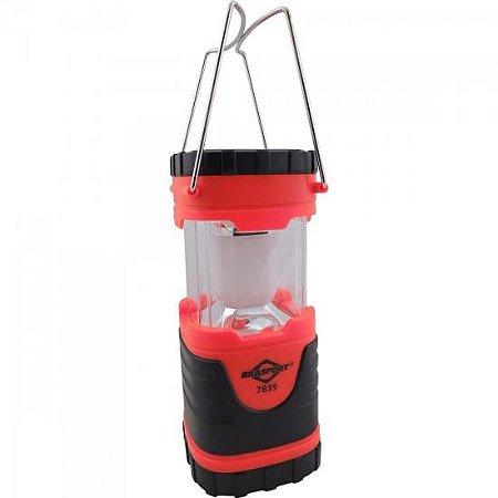 Lampião Retrátil LED Vermelho/Preto BRASFORT