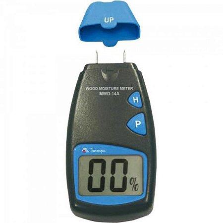 Medidor de Umidade de Madeira MWD-14A Preto/ Azul MINIPA