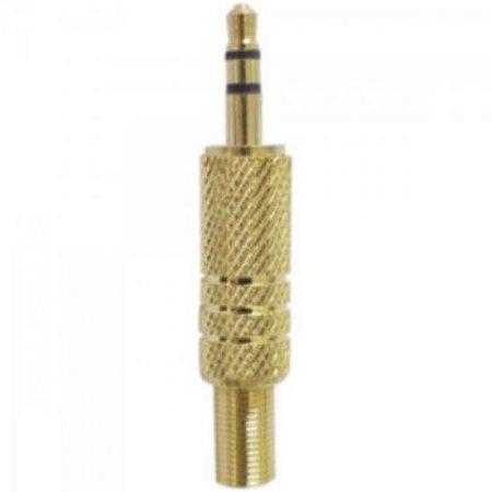 Plug P2 Stereo com Mola Gold GENÉRICO
