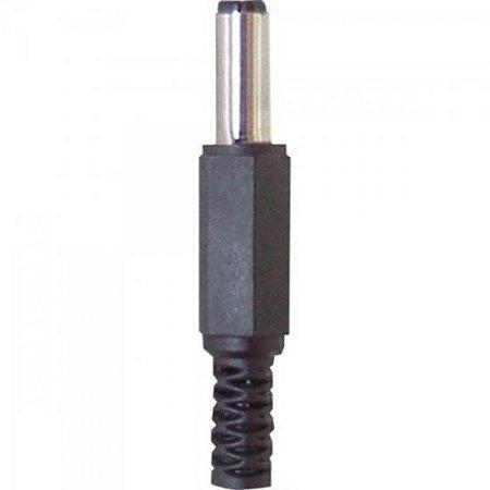 Plug P4 2,1 x 5,5 x 13mm Preto GENÉRICO