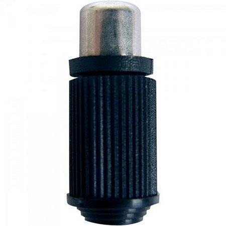 Plug RCA Fêmea Plástico Preto 63 EMETAL