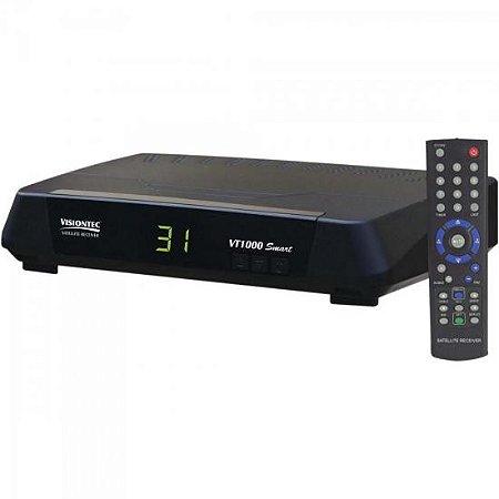 Receptor Analógico VT1000 SMART Preto VISIONTEC