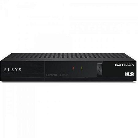Receptor Digital com Globo HD SATMAX ETRS36 Preto ELSYS