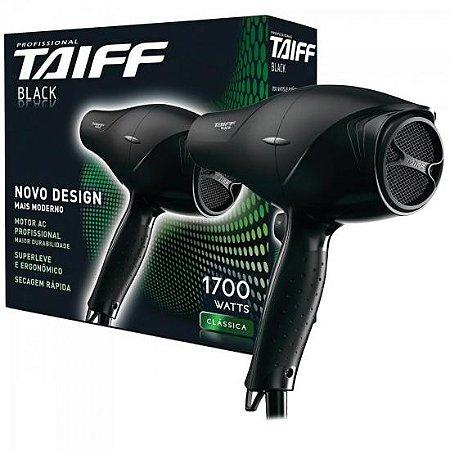 Secador de Cabelo 1700W 127V BLACK Preto TAIFF