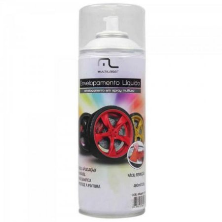 Spray de Envelopamento Liquido 400ML AU420 Preto Fosco MULTILASER