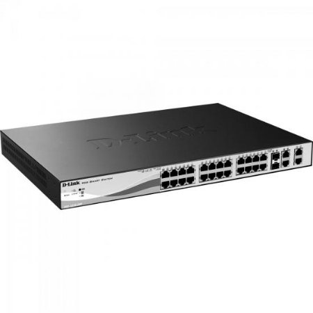 Switch Fast 28 Portas 100Mbps DES-1210-28 Preto D-LINK