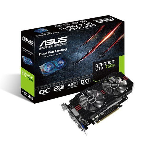 PLACA DE VIDEO 2GB PCIEXP GTX 750TI GTX750TI-PH-2GD5 128BITS GDDR5 GEFORCE NVIDIA ASUS