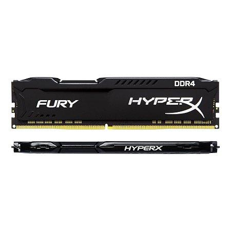 MEMORIA 8GB DDR4 2400 MHZ FURY HYPERX HX424C15FB/8 PRETO KINGSTON