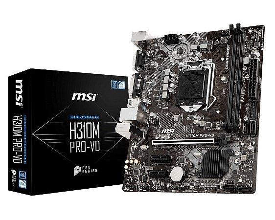 PLACA MAE GAMMING 1151 ATX H310M PRO-VD DDR4 MSI