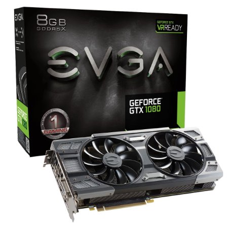 PLACA DE VIDEO 8 GB PCIEXP GTX 1080 08G-P4-6284-KR 256BITS GDDR5 NVIDIA EVGA