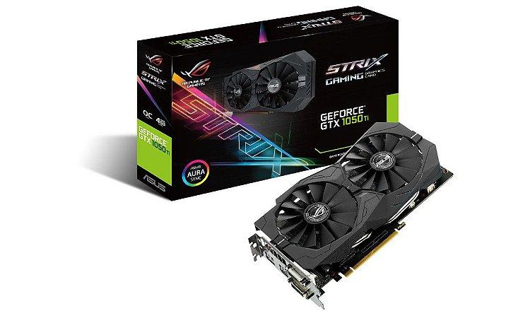 PLACA DE VIDEO 4GB PCIEXP STRIX-GTX1050TI-4G-GAMING 128BITS GDDR5 ASUS  IMPORTADO