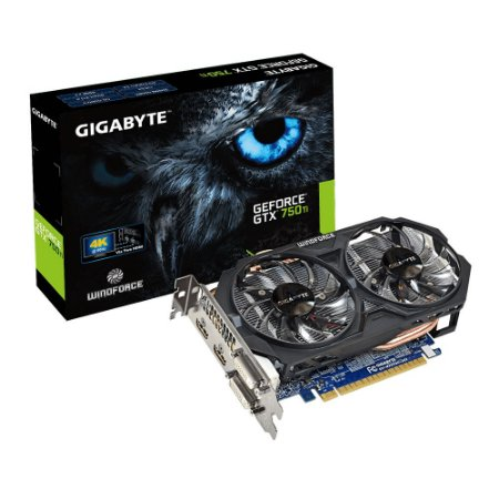 PLACA DE VIDEO 1 GB PCIEXP GTX 750TI GV-N75TOC-1GI 128BITS GDDR5 GEFORCE NVIDIA GIGABYTE