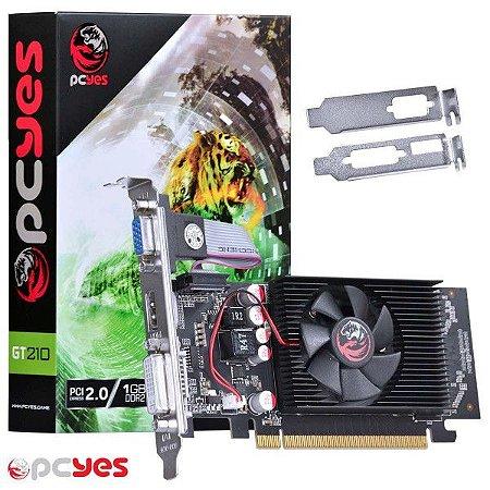 PLACA DE VIDEO 1 GB PCIEXP GT210 PPV210GT6401D2LP 64BITS DDR2 VGA/HDMI/DVI PCYES