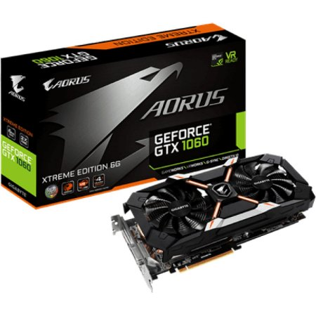PLACA DE VIDEO GIGABYTE GEFORCE GTX 1060 AORUS 6GB DDR5 192 BITS - GV-N1060AORUS-6GD R2