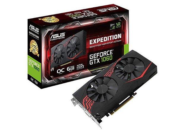 PLACA DE VIDEO ASUS GEFORCE GTX 1060 6GB EX DDR5 - EX-GTX1060-O6G