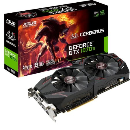 PLACA DE VIDEO ASUS GEFORCE GTX 1070 TI 8GB DDR5 256 BITS - CERBERUS GTX1070TI-A8G