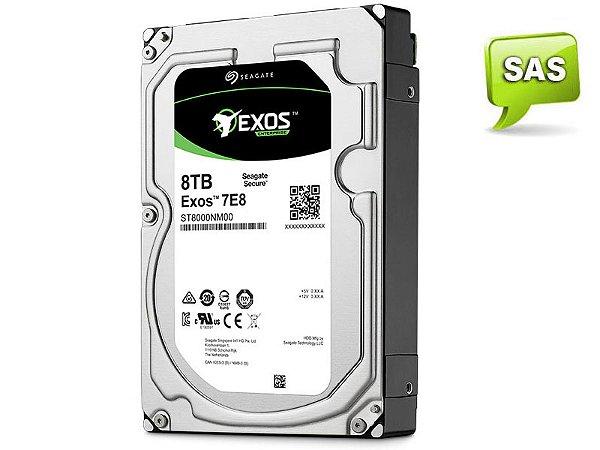 HDD 3,5 ENTERPRISE SERVIDOR 24X7 SEAGATE 1RM212-004 ST8000NM0075 8 TERAS 7200RPM 256MB CACHE SAS 12GB/S