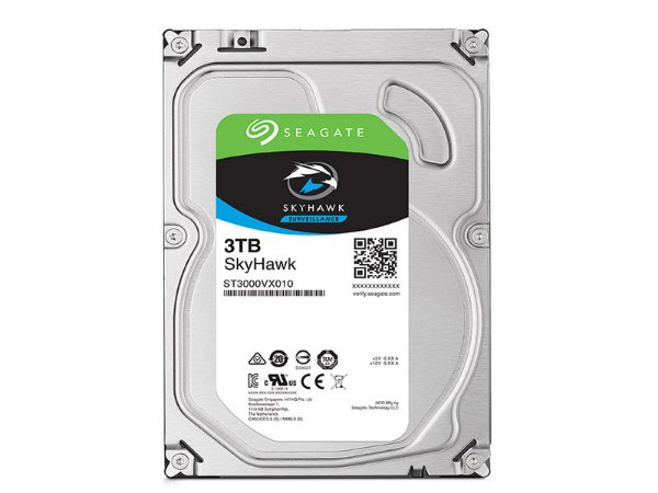 HDD 3,5 SISTEMA SEGURANCA VIGILANCIA SEAGATE 2E3166-300 ST3000VX010 3TERA 5900RPM 64MB CACHE 24X7 SATA 6GB/S