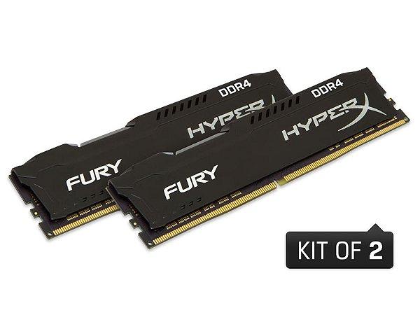 MEMORIA DESKTOP GAMER DDR4 HYPERX HX424C15FB2K2/16 FURY 16GB KIT(2X8GB) 2400MHZ CL15 DIMM BLACK