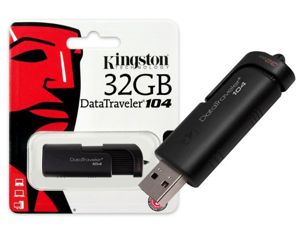 PEN DRIVE USB 2.0 KINGSTON DT104/32GB DATATRAVELER 104 32GB
