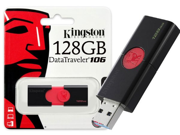 PEN DRIVE USB 3.0 KINGSTON DT106/128GB DATATRAVELER 106 128GB