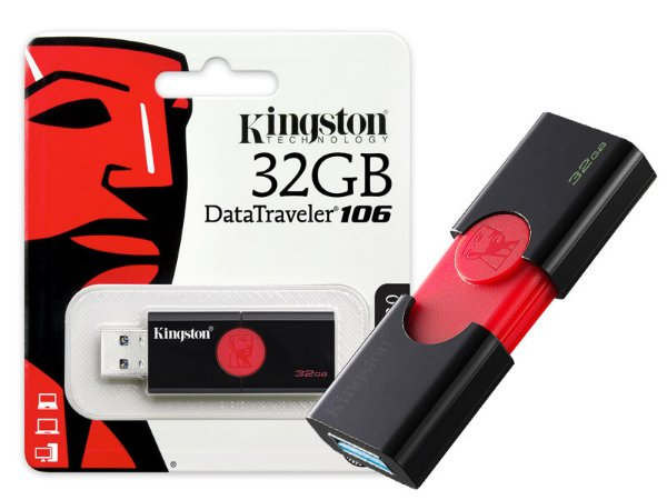 PEN DRIVE USB 3.0 KINGSTON DT106/32GB DATATRAVELER 106 32GB